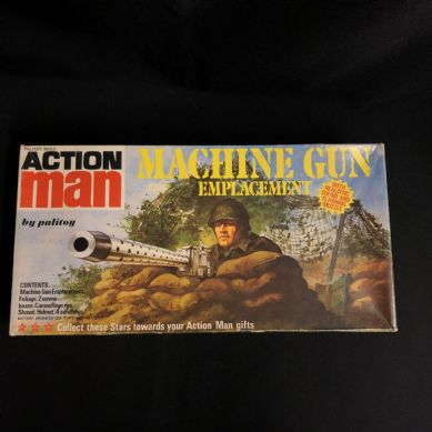 VINTAGE ACTION MAN - MACHINE GUN EMPLACEMENT - BOXED nice condition
